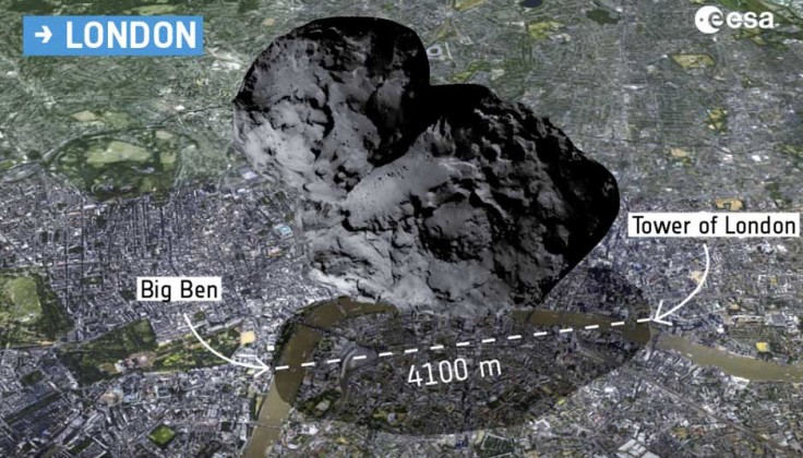 Comet over London, Close-up Engineering - Credits: esa.int