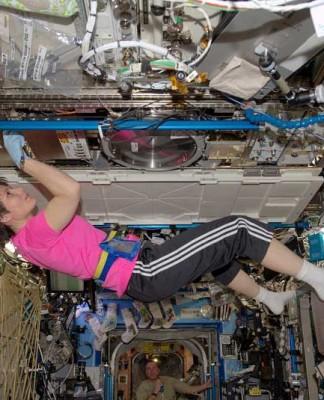 Samantha Cristoforetti, Close-up Engineering - Credit: ESA/NASA