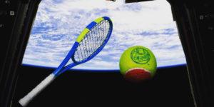ISS: la prima partita di tennis nello spazio