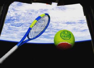 Prima partita di tennis nello spazio
