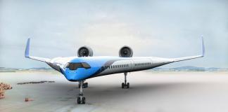 KLM aereo v-shaped