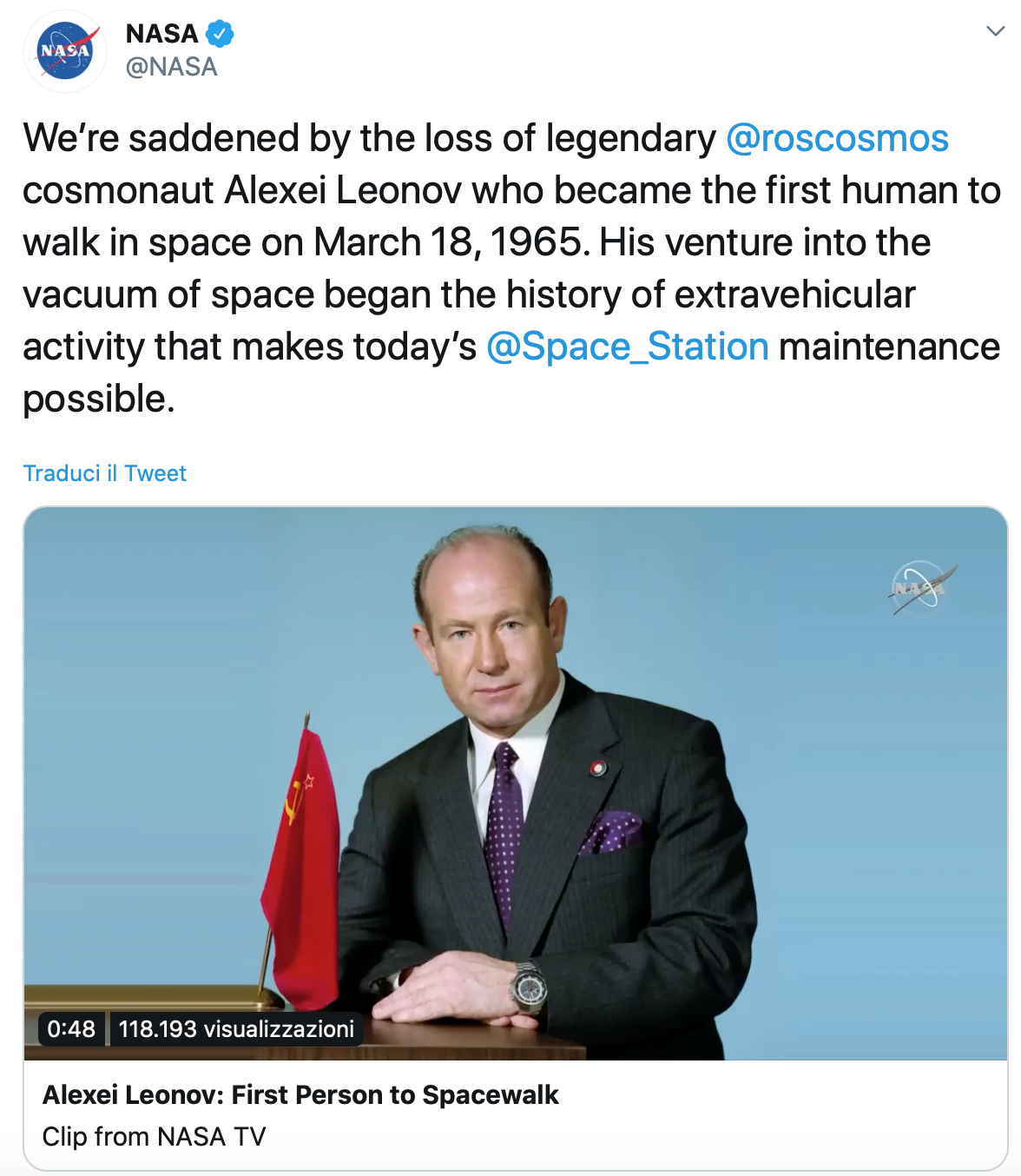 NASA Leonov
