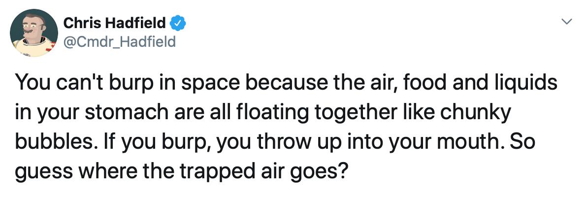Ruttare nello spazio: Hadfield