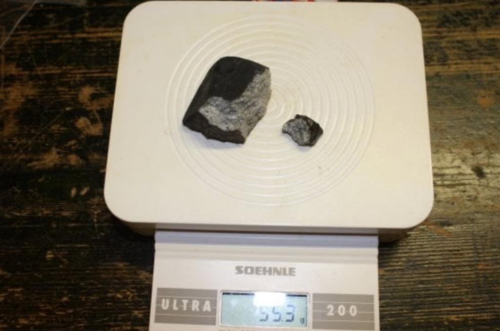 frammenti meteorite di Modena