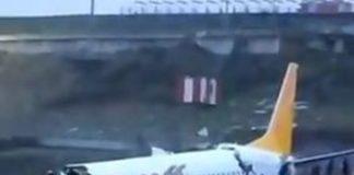 Aereo a Istanbul finisce fuori pista durante l'atterraggio