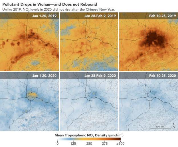 Il coronavirus ha portato una riduzione dell'inquinamento in Cina