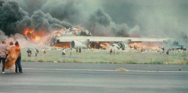 Disastro aereo di Tenerife: l'incendio