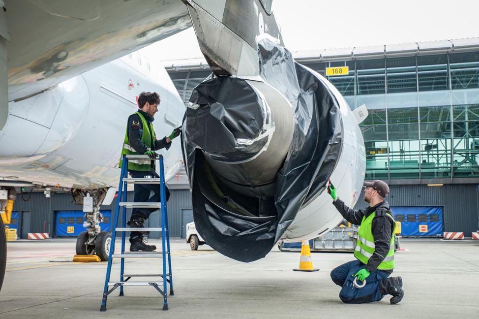 coronavirus: come conservare un aereo