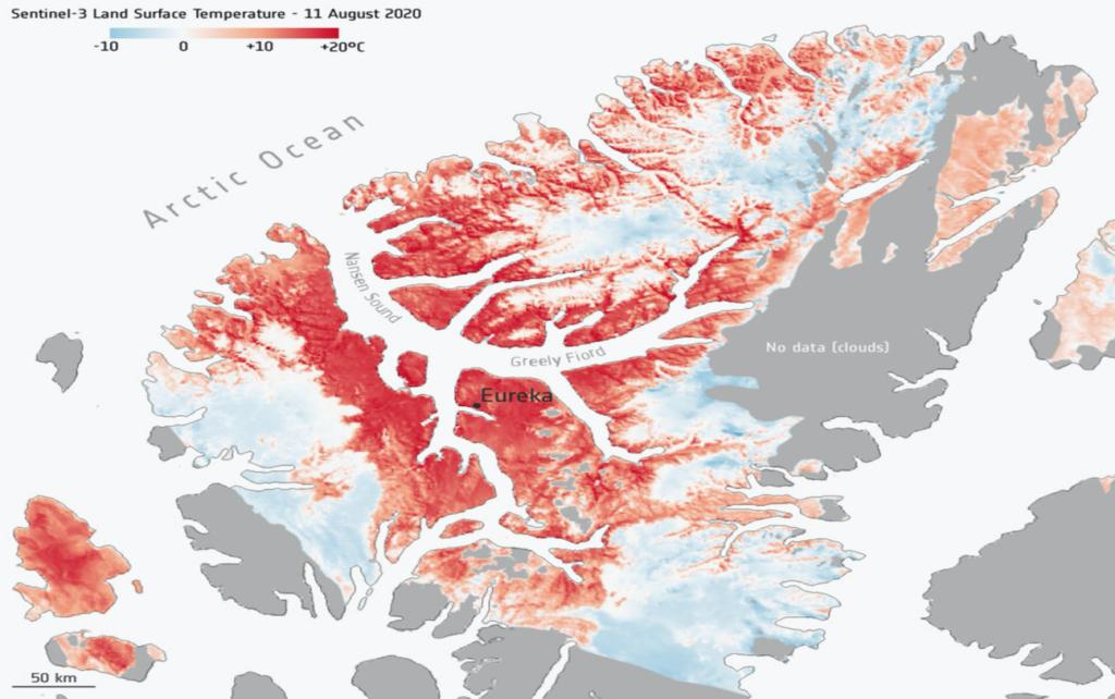 caldo da record nell'Artico