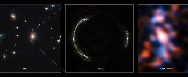 ALMA per la rilevazione degli anelli di Einstein. Credits: ESO.