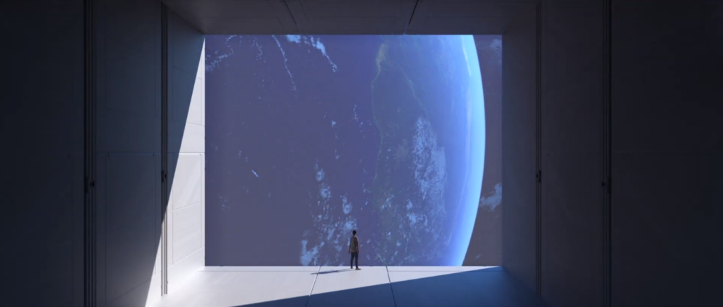 Utente virtuale si appresta a colonizzare Earth 2. Crediti: Earth.io
