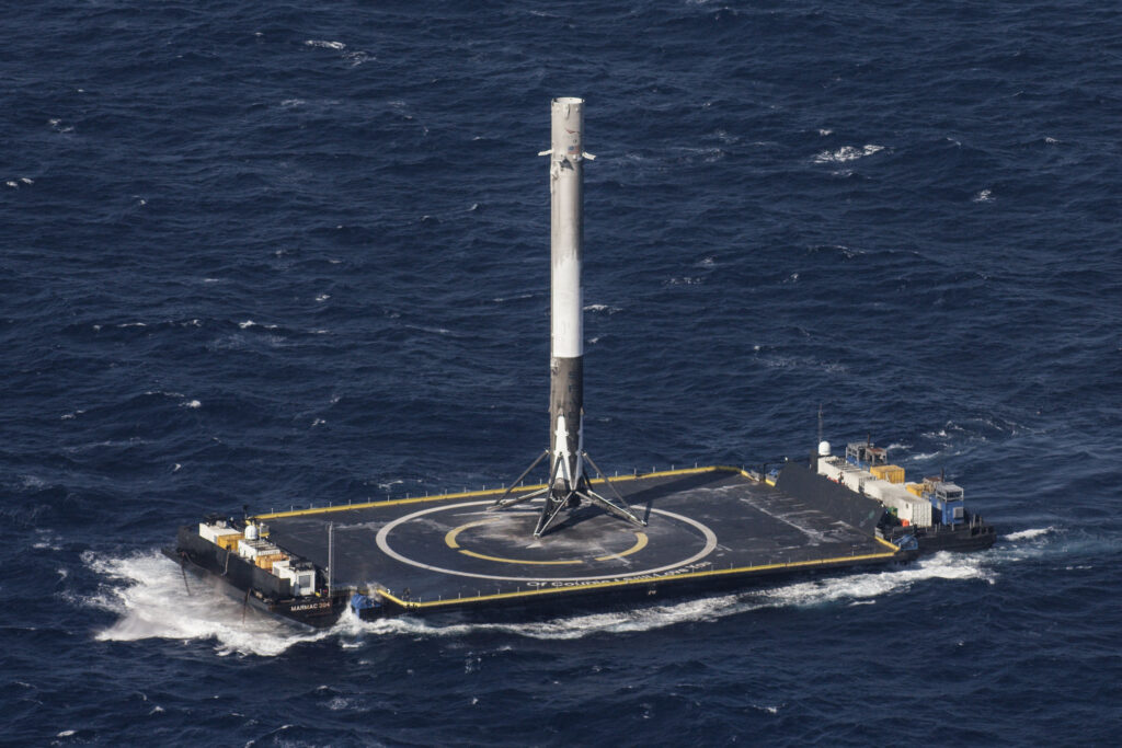 "Piattaforma ""Of Course I Still Love You"". Crediti: SpaceX."