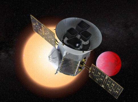 Tess artistic illustration, TOI 700 d mission. Crediti: NASA.