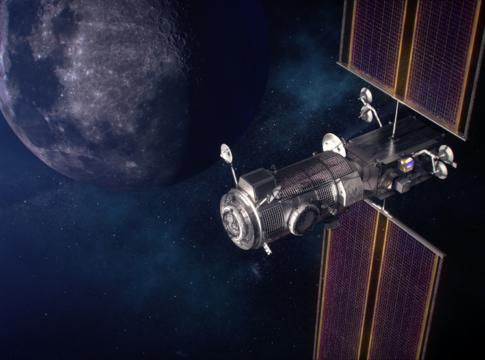 Illustrazione artistica del futuro Lunar Gateway. Crediti: NASA.