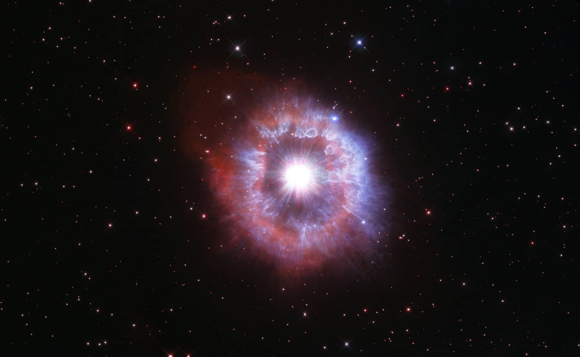 Hubble fotografia stella