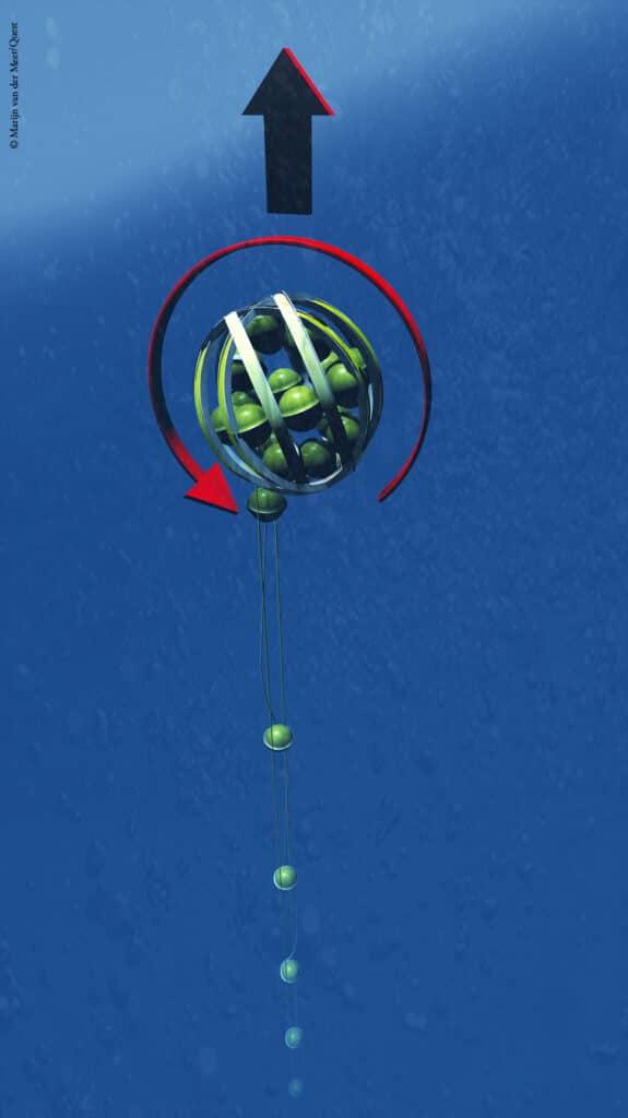 Srotolamento sfera KM3NeT-ARCA