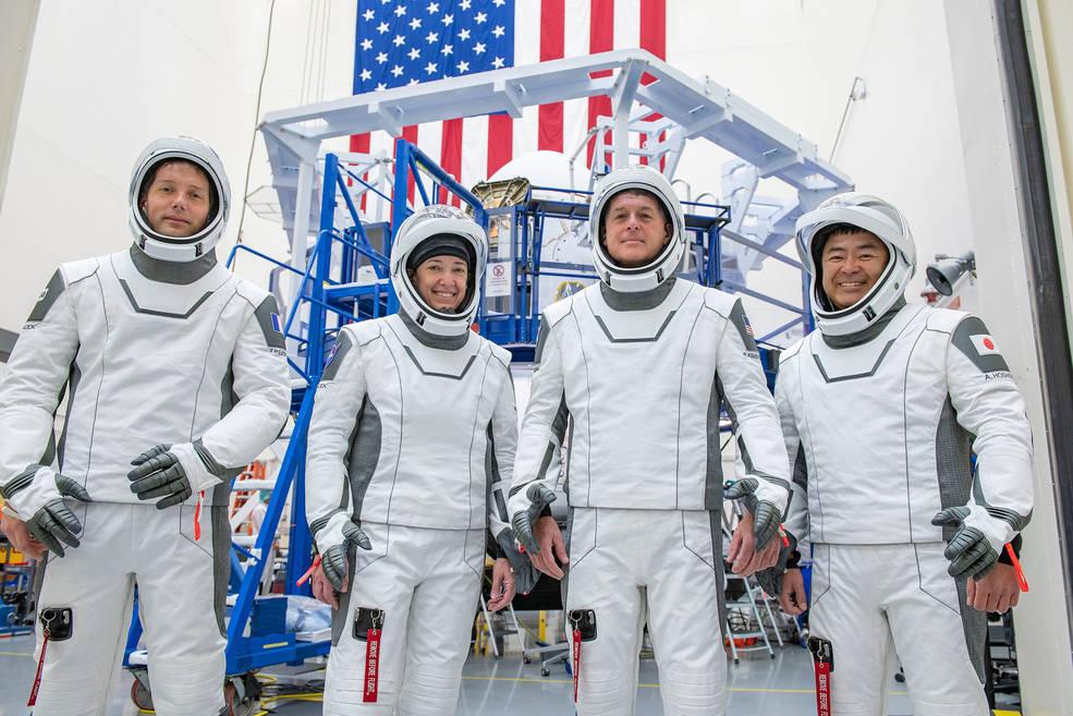 Equipaggio della Crew 2. Crediti: SpaceX