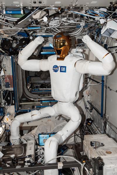Sviluppo dell'astronauta artificiale Robonaut 2. Crediti: Johnson Space Center NASA.