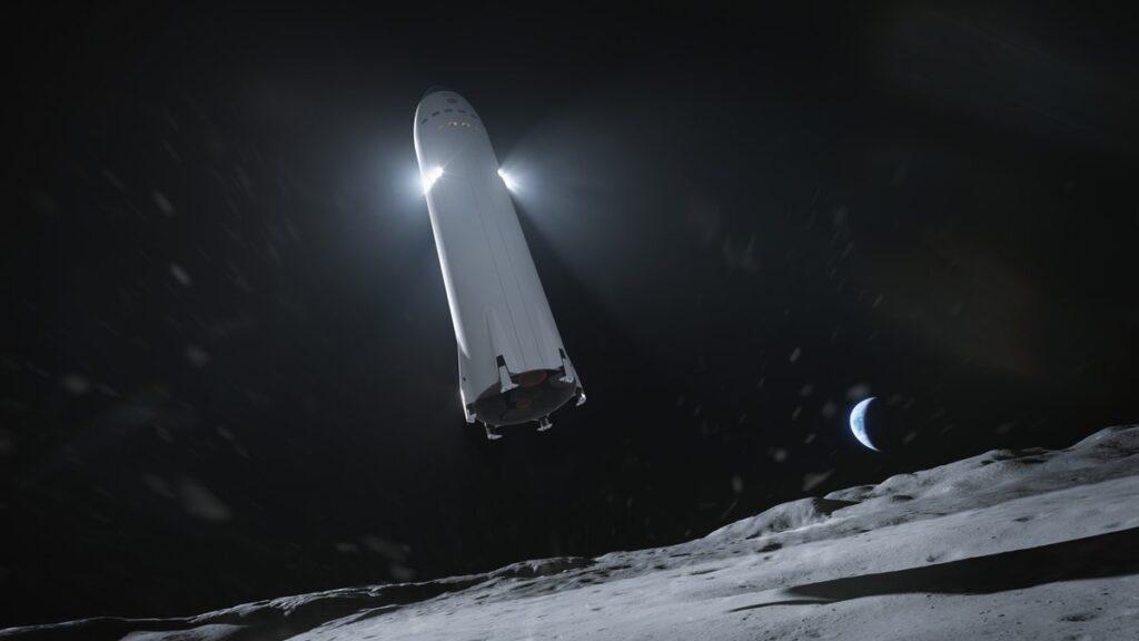 SpaceX Starship Luna uomo