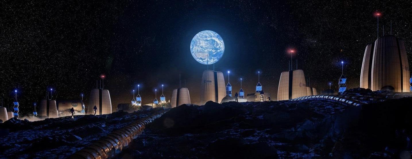 Comunicazione e navigazione sulla Luna Credits: Telespazio