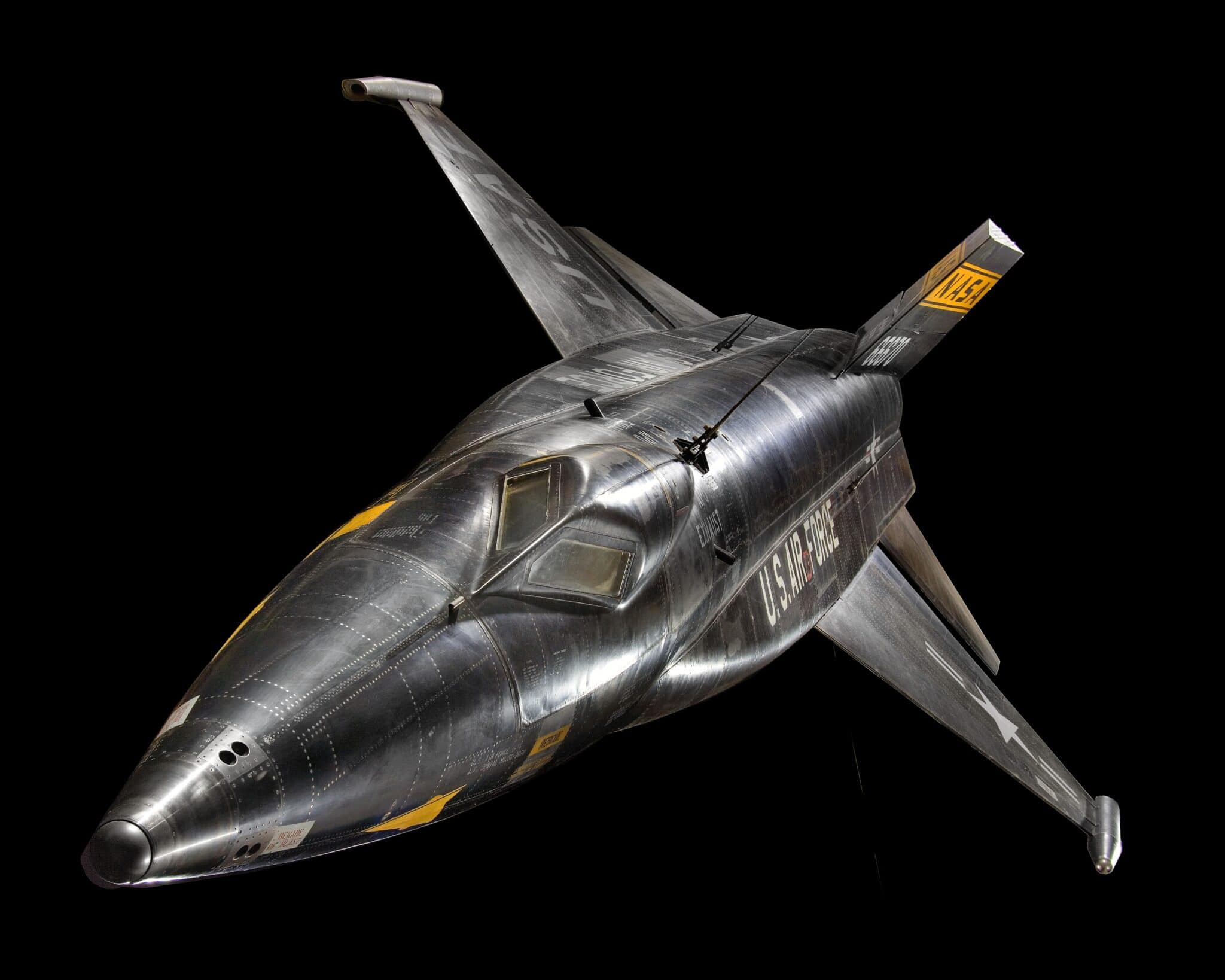 Il leggendario North American X-15, uno degli X-planes del programma di ricerca di volo NASA. Esemplare conservato presso lo Smithsonian National Air and Space Musem. Crediti: Smithsonian NASM.