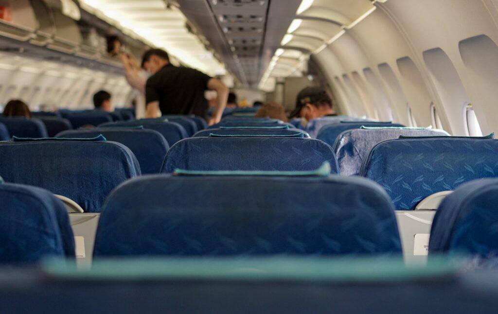 viaggi aerei Covid-19 Cabina di un aereo Foto: Juno Kwon