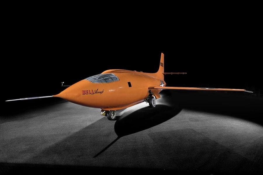 Il velivolo storico Bell X-1 denominato Glamorous Glennis, primo a rompere il muro del suono. Crediti: Smithsonian National Air and Space Museum.