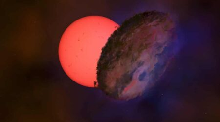 Una stella gigante lampeggia nel cuore della nostra galassia