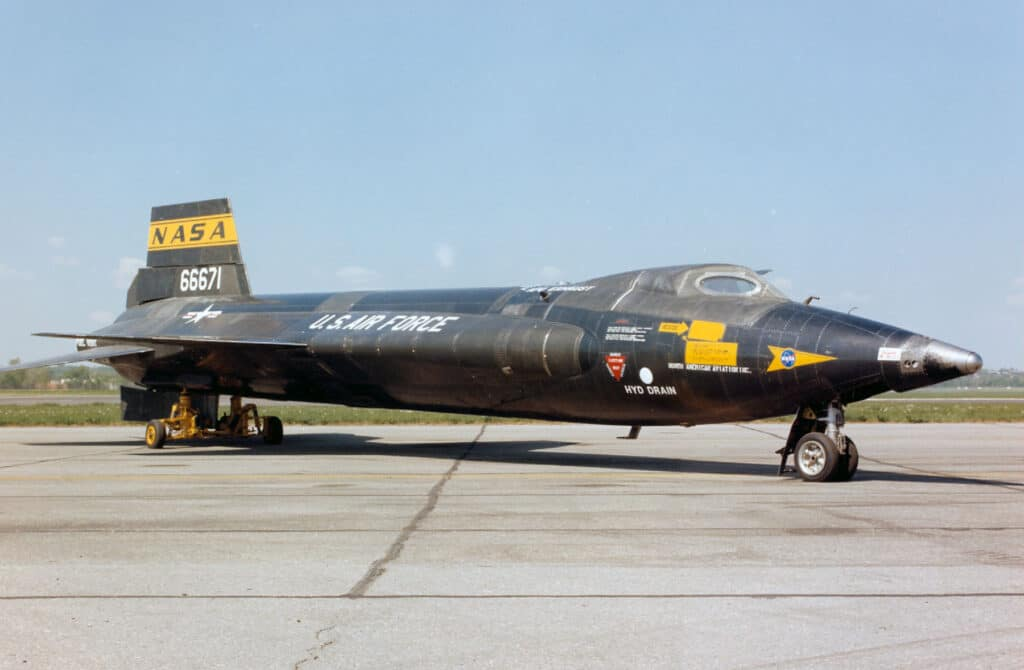 DAYTON, Ohio - North American X-15A-2 al National Museum of the United States Air Force. Crediti: U.S. Air Force photo.