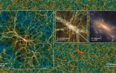 Uchuu, l'universo virtuale più grande mai fatto che si estende nel tempo