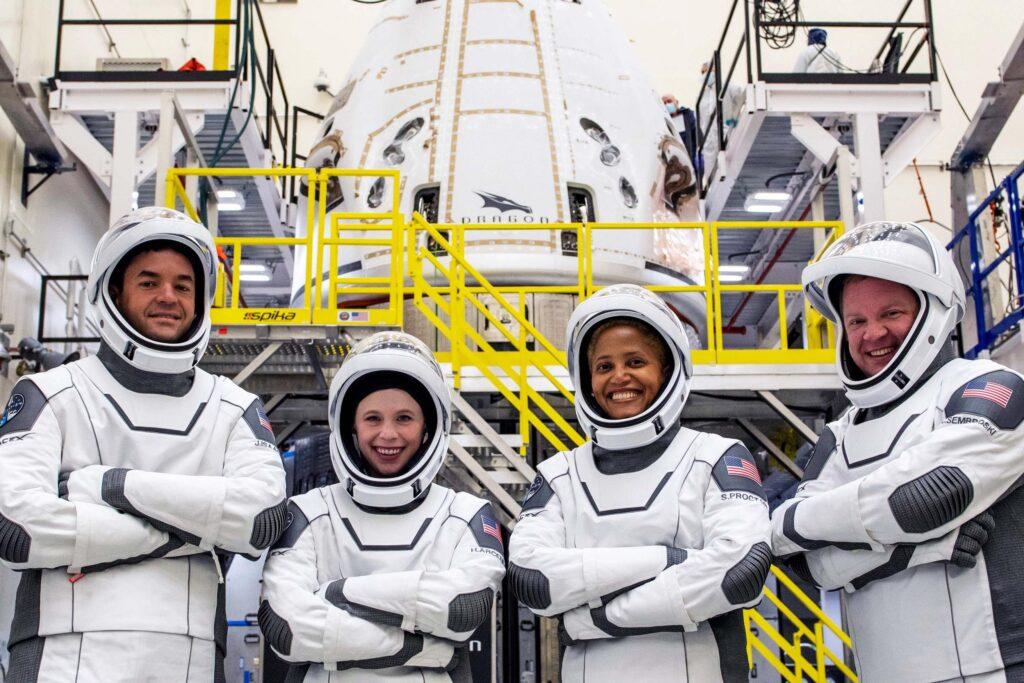 Inspiration4 SpaceX atterraggio
