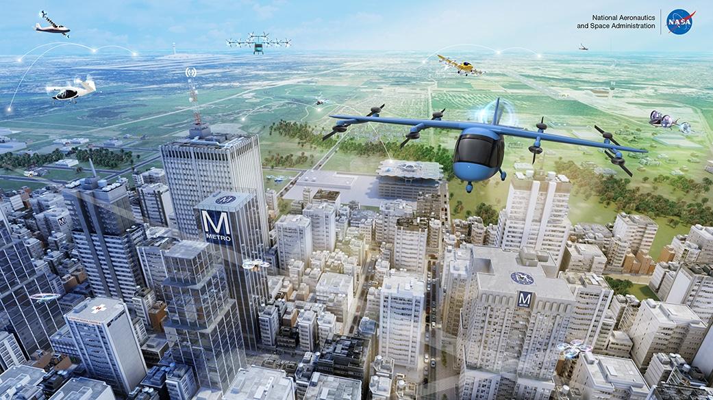 NASA mobilità aerea urbana Credits: NASA