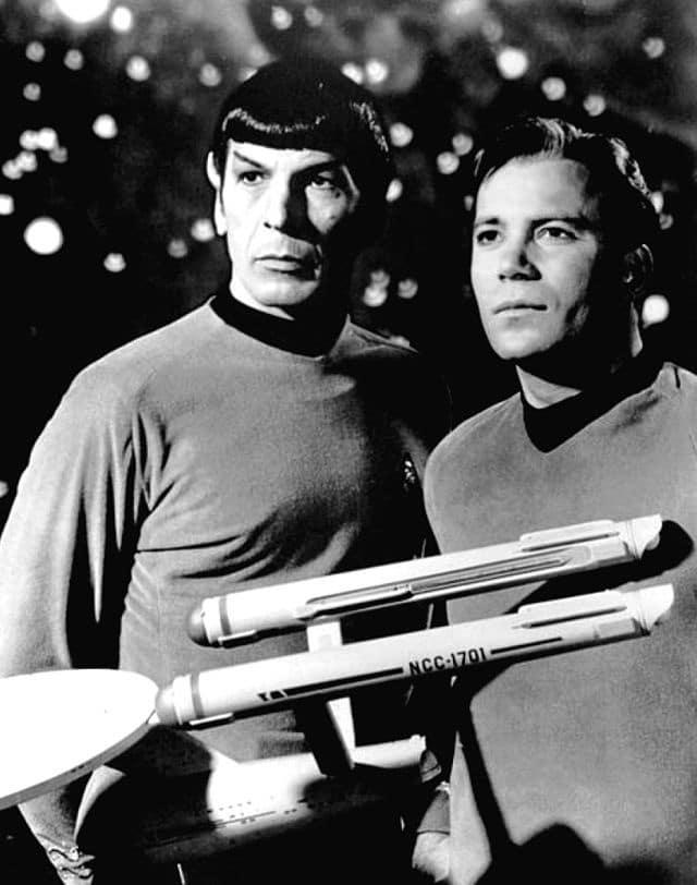 Leonard Nimoy, William Shatner, Spock e Kirk, Star Trek.
