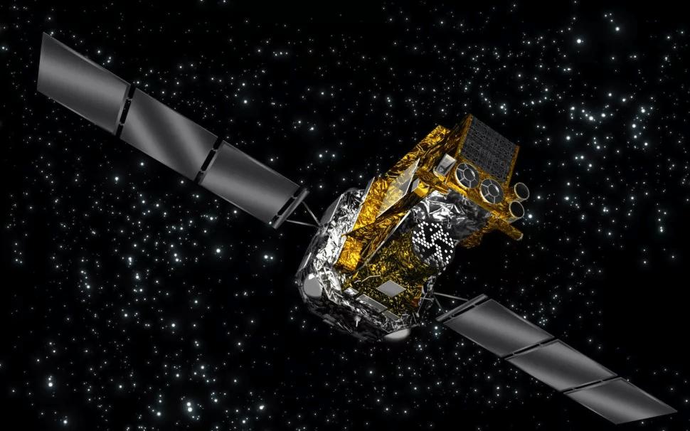 Rappresentazione artistica del satellite Integral. Crediti: ESA.