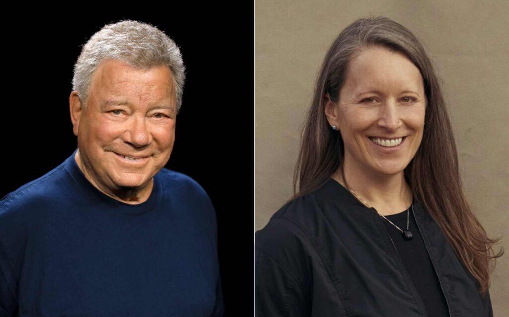 William Shatner, Audrey Powers, Blue origin, lancio 12 ottobre